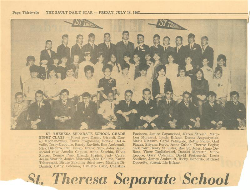 Saint Theresa Grade 8 NickDirenzoMarylouMorrasutPaulFesko